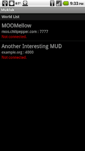 Mukluk MUD Client- screenshot thumbnail