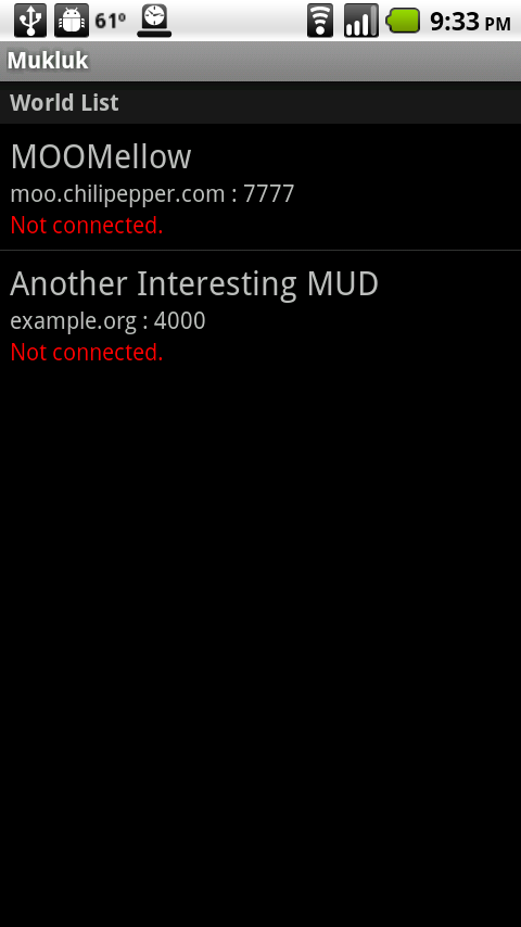 Mukluk MUD Client- screenshot