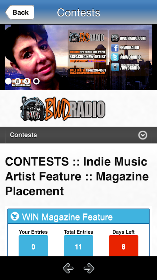 BWD Radio- screenshot