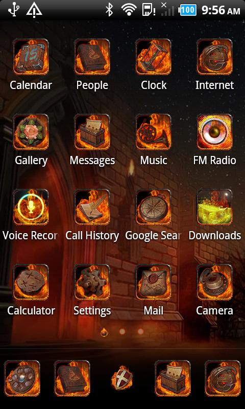 Fire_Turbo launcher EX Theme - screenshot
