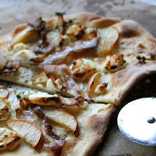 Ricotta Bacon Thin Crust Pizza.
