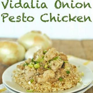 Vidalia Onion Pesto Chicken Recipe