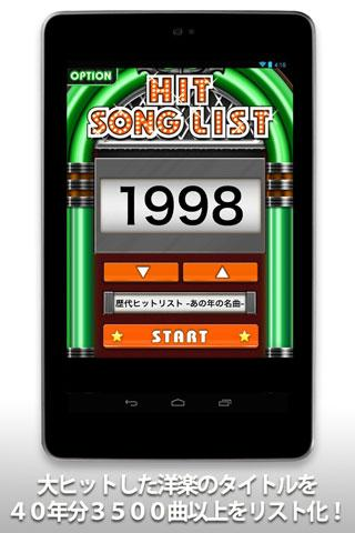 Hit Song List of Japan