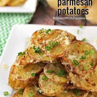 Crispy Garlic Parmesan Potatoes.