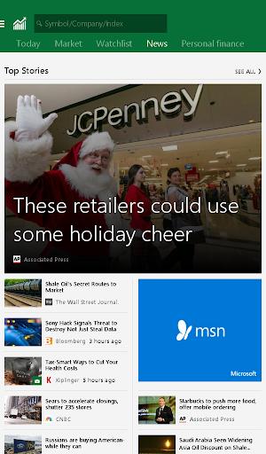 MSN Money- Stock Quotes & News Screenshot