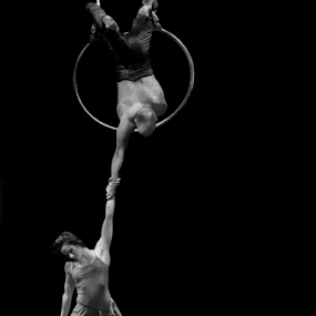 by Trevor Bond - People Musicians & Entertainers ( jock and maria, aerialists,  )