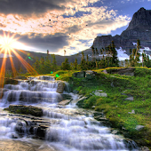 Sunrise Waterfall LWP