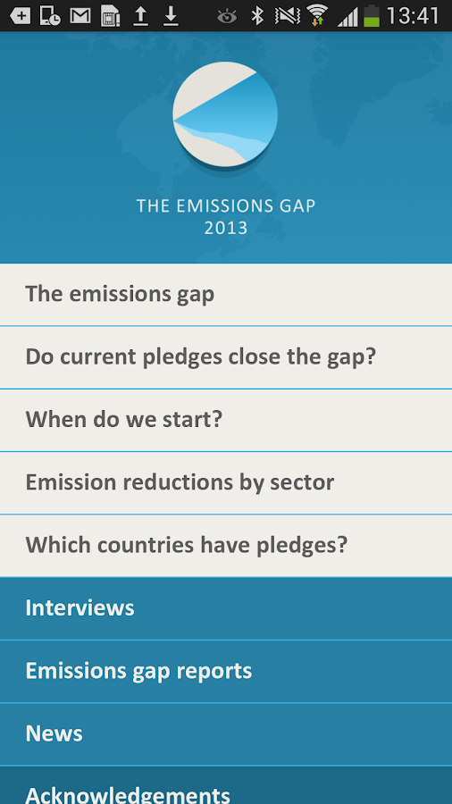 The emissions gap - screenshot