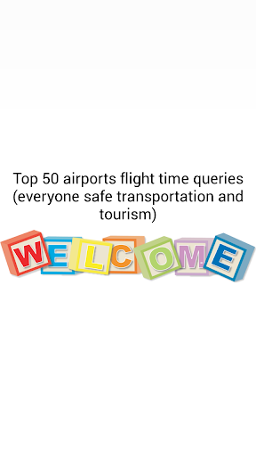 Top 50 airport flight time