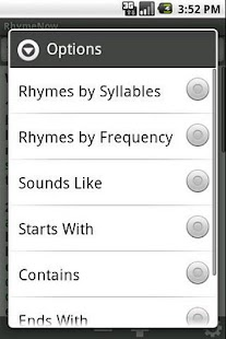 RhymeNow Rhyming Dictionary Screenshot