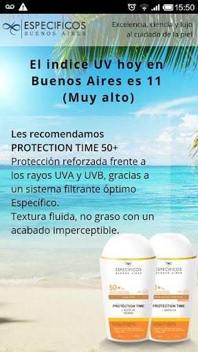 Indice UV - ESPECIFICOS