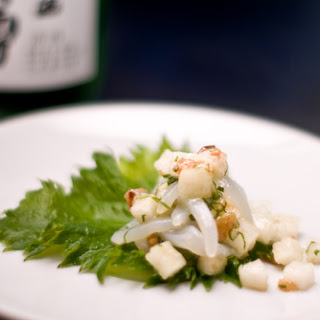 Pickled plum and calamari salad (Ume ika somen)