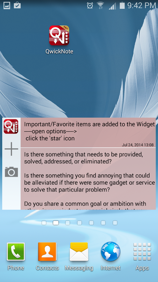 QwickNote Pro - screenshot