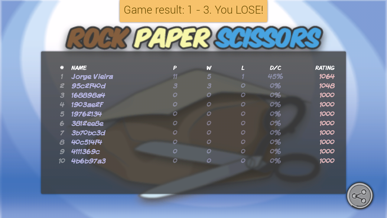 Rock Paper Scissors Online - screenshot