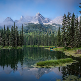 Island Lake by William Tipper - Landscapes Mountains & Hills