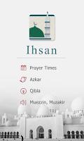 Screenshot of Ihsan - Prayer Times - Qibla