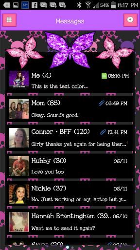 GO SMS - Butterflies 7