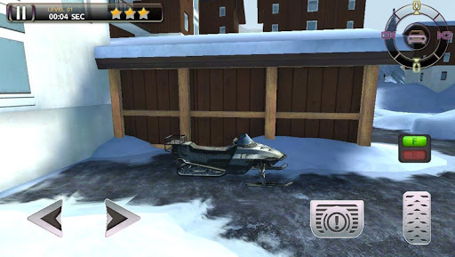 Snowmobile Racing Simulator Parking Games 2017  screenshots 2