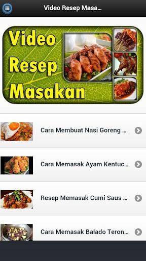 Video Resep Masakan