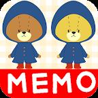 MEMO PAD TINY TWIN BEARS NOTE