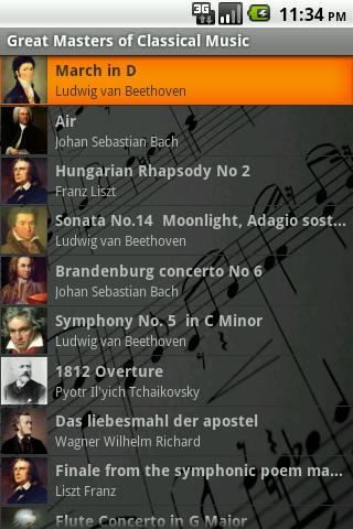 Masters of Classical Music - screenshot