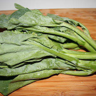 Braised Chinese Broccoli (Kai-lan) in Miso Sauce