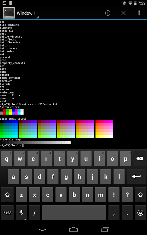 Terminal Emulator for Android: captura de tela