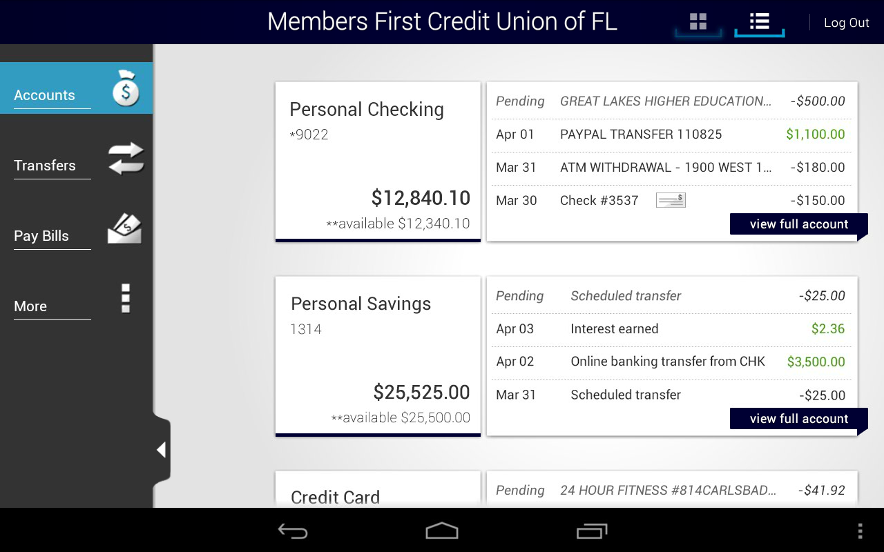 Members First Credit Union FL - screenshot