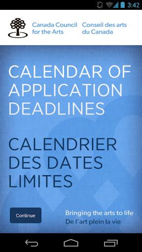 Canada Council Arts: Deadlines