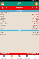 Screenshot of Bills Monitor