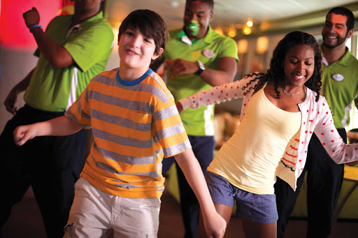 Norwegian-Cruise-Line-Entourage-teens-dancing - Entourage, Norwegian Cruise Line's  teen program, features a variety of fun activities, including bowling tournaments, dodge ball under the stars and dancing.