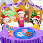 Christmas Pretzels Cooking