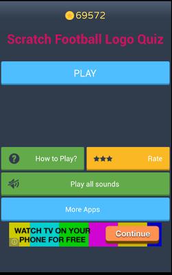 Scratch Football Logo Quiz - screenshot