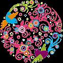 Lovely birds theme Clock logo