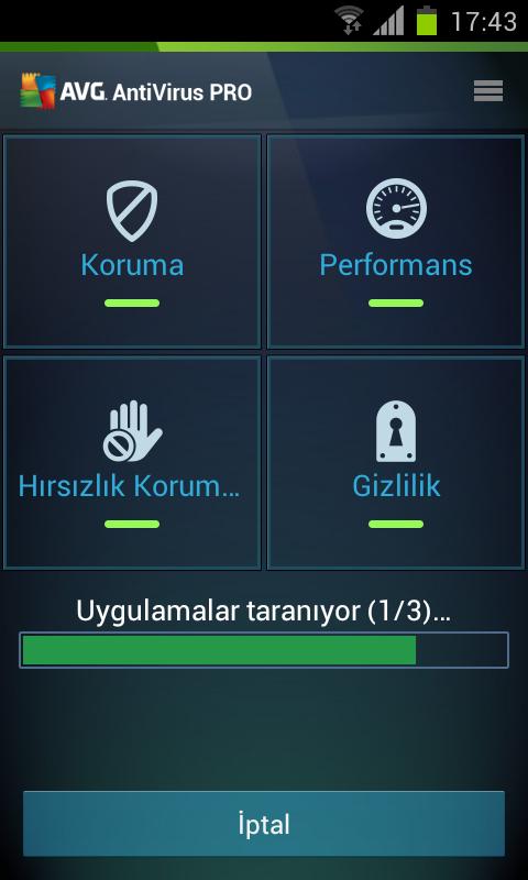 AVG Mobile AntiVirus Security PRO Türkçe Full Android indir