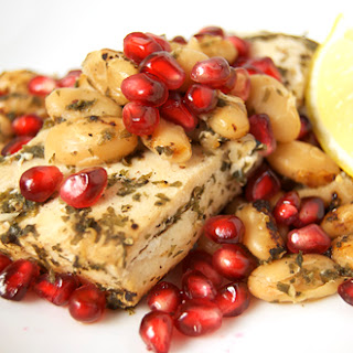 Lemon-Pomegranate Mahi Mahi