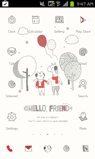 HELLO FRIEND go launcher theme