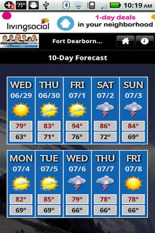 WGN Weather - screenshot