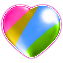 Multicoloured hearts wallpaper icon