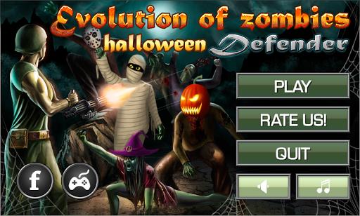 Evolution of zombies Halloween
