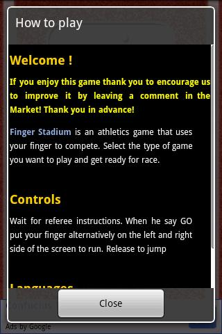 Finger Stadium- screenshot