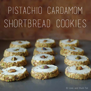 Pistachio Cardamom Shortbread Cookies