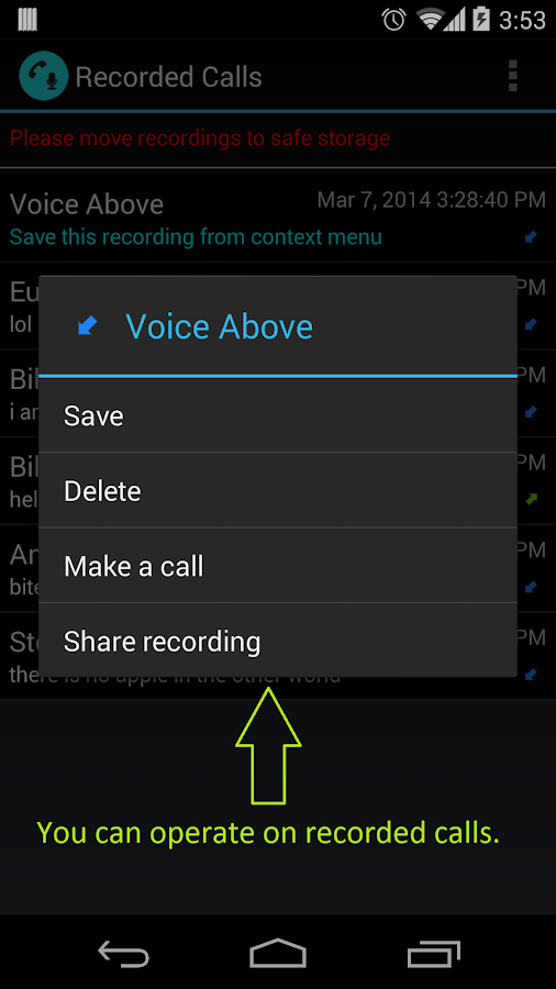 Call Recorder | Calls Recall - screenshot