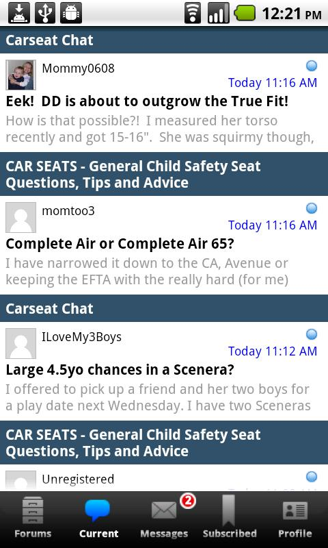 Car-Seat.Org Forums & Features - screenshot