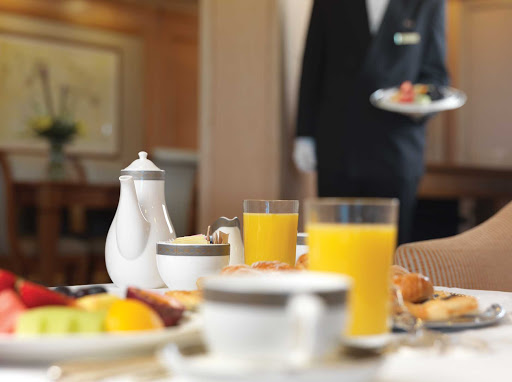 Enjoy the fine butler service offered by Queen Victoria's Grill restaurant.