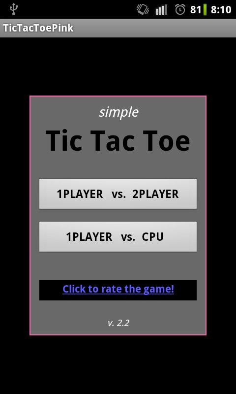 Tic Tac Toe PINK FREE! - screenshot