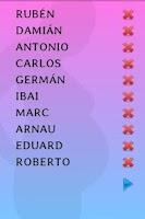 Screenshot of Nombres de bebe
