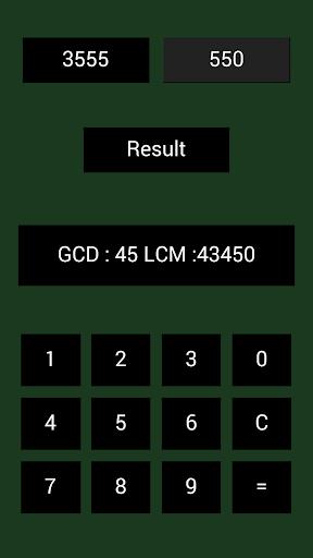 GCD LCM计算器 - 最大公约数LCM