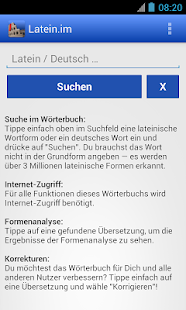 Latein-Wörterbuch mit Formenanalyse – Latein.me- screenshot thumbnail