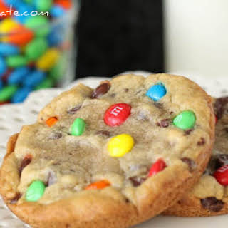 XXL M&M Chocolate Chip Cookies.